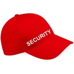 Peaked Security Cap - Black