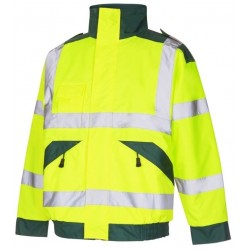 Ambulance High Visibility Bomber Jacket Yellow / Green