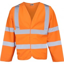 Hi Visibility Long Sleeve Jacket - Yellow or Orange - LIMITED STOCKS
