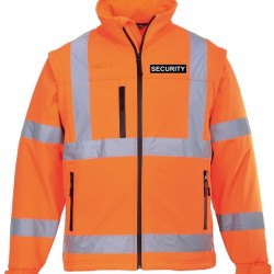 Hi Visibility Soft Shell Jacket (Yellow or Orange) - Embroidered