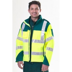 Ambulance Hi Visibility Soft Shell Jacket with Radio Pocket (SMALL ONLY)