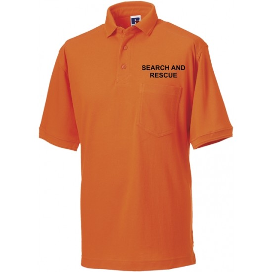 Search and Rescue - Heavy Duty Polo Shirt (Black, Red or Orange)