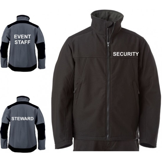 Security Softshell Workwear Jacket - Embroidered With Security / Event Staff / Staff etc