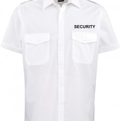 Short Sleeve Security Pilot Shirt with tabs for epaulettes on shoulder