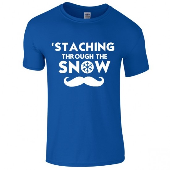 'Staching through the Snow - Novelty Christmas T-Shirt