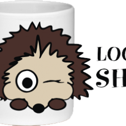 Looking Sharp Novelty Hedgehog Mug