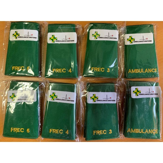 Ambulance Epaulette Medical Sliders (Rank Sliders) - Sold In Pairs