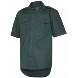 Unisex DARK Green Short Sleeved Ambulance Shirt.