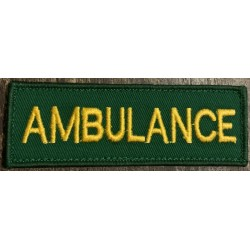 Ambulance Velcro Badge 100 x 40mm