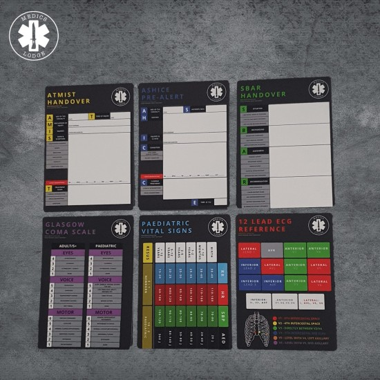 Aid-Sheets (A6 3-set) by Medics Lodge  - A must have for any grade of Medic!