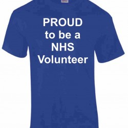 Proud to be a NHS Volunteer T-Shirt - LIMITED STOCK - FREE SHIPPING